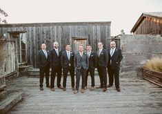 Rustic Point Reyes wedding: Niki + J. Grey Suit Wedding, Wedding Men, Elegant Wedding, Wedding Styles, Rustic Wedding, Wedding Stuff, Dark Grey Groomsmen, Groom And Groomsmen Style, Always A Bridesmaid