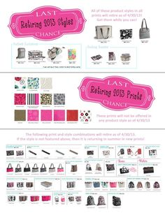 Retiring Thirty One Products/Prints