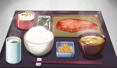 Uploaded by Find images and videos about food, anime and yummy on We Heart It - the app to get lost in what you love. Anime Bento, Asian Recipes, Real Food Recipes, Yummy Food, Think Food, I Love Food, Main Manga, Casa Anime, Anime Gifs
