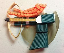Merida Brave Ribbon Sculpture Hair Bow Baby Toddler Girl Green Gold Arrow