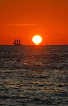Sunset Key West, Florida, USA