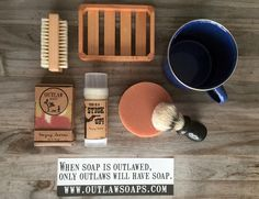 Saddle-up soap and shave set for Men's Grooming