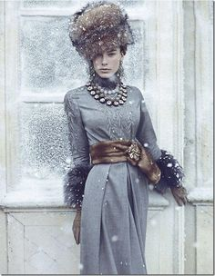 Gorgeous Russian Winter Fashion | Glamour | Fur Hat | Vintage Inspired