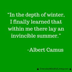 Thought for the Day: Camus