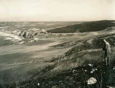 Old Old photo from Palos Verdes looking north toward Torrance Beach and Hollywood riviera.