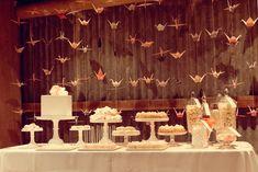 Roxanne and Brad's Rustic Hunter Valley Wedding rustic dessert table at a wedding – Polka Dot Bride