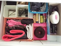 Organized Hair Supplies - Tidying   Organizing Beauty Products with the KonMari Method