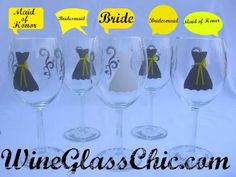 These wine glasses are SO cute!