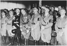 Picture of Adolf Hitler and other Nazi officials attend the opening ceremonies of the 1938 Party congress in Nuremberg.