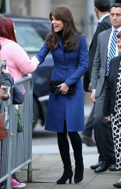 Catherine, Duchess of Cambridge arrives at Dundee Rep Theatre as part of an away day to the Scottish City on October 23, 2015 in Dundee, Scotland.
