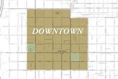 Salt Lake City Downtown Neighborhood Map