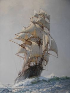 Montague Dawson (1890 – 1973)   https://www.facebook.com/AsiaBizLink/photos/pcb.727896230648534/727895880648569/?type=1