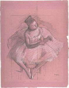 Edgar Degas (French, 1834–1917). Seated Dancer, 1873–74. The Metropolitan Museum of Art, New York. H. O. Havemeyer Collection, Bequest of Mrs. H. O. Havemeyer, 1929 (29.100.942) #dance