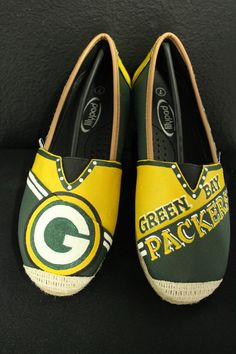 Custom Hand Painted Green Bay Packers Tom's by TouchOfJoyDesigns, $60.00