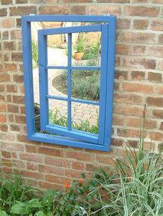 Garden mirror illusion - open window