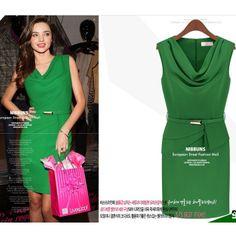 Free Shipping Dropped V-neck Sleeveless Chiffon Dress Sheath Pullover Women Render Dress Women Slim Dress Lady One-piece Dress $36.90