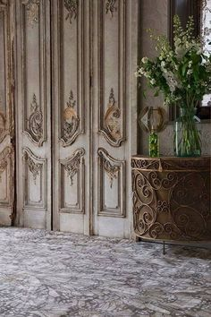 Old doors in a French Chateau.