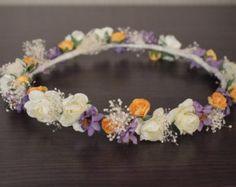 Corona Lilac de flores