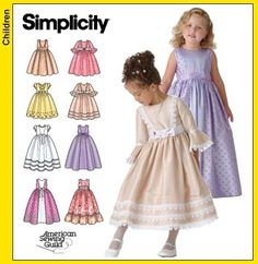 Simplicity 4337 Sewing Pattern Child's Flower Girl Dress