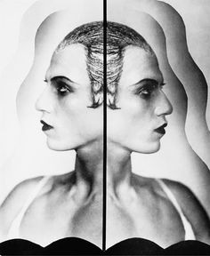 Double Portrait of Serge Lifar by Madame Yevonde, 1930s.