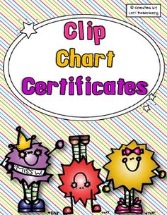 Reward your students' outstanding behavior at the end of each month with these clip chart certificates.