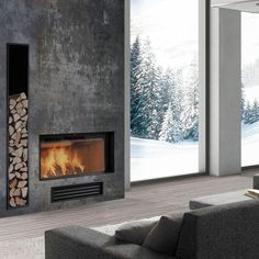 Contemporary Fireplaces | Shape contemporary the modern fireplaces :