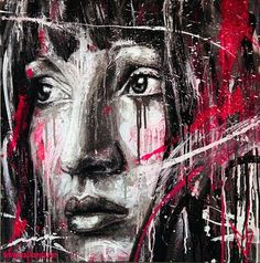 Artist David Walker creates beautiful portraits on walls, canvas, records, and other surfaces using spray paint and without ever using a brush. David Walker, Walker Art, Graffiti Artwork, Street Art Graffiti, Spray Paint Art, Thai Art, A Level Art, Art Graphique, Street Artists