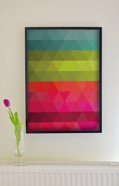Fine Art Print Illustration  Poetic Geometry: by AMORdesignpassion