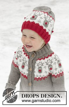 Run run rudolph hat / DROPS children - free knitting patterns by DROPS design Run Run Rudolph Hat / DROPS Children - Knitted hat for children in DROPS Merino Extra Fine with a Nordic pattern. Baby Knitting Patterns, Knitting For Kids, Free Knitting, Crochet Patterns, Baby Patterns, Drops Design, Tejido Fair Isle, Pull Jacquard, Cardigan Bebe
