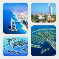 Dubai beaches & man-made islands.