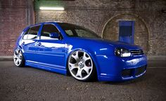 VW's Jazz Blue - so lovely on the MK4 (helped here by great rims and stance)
