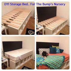 Ze zet een paar IKEA Kallax kasten tegen elkaar aan, het resultaat is perfect voor iedere slaapkamer! - Zelfmaak ideetjes