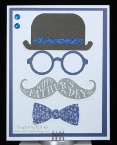 Father's Day Card ~ Day for Dad ~ Card 1 for May workshop ~ Bowler Hat ~ CatScrapbooking.com