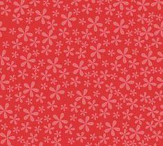 Bloemetjes stof rood