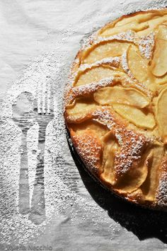 *desserts, sweets, food* - Speedy Apple Cake. I am so glad I've found this one on Pinterest! This is my favorite dessert,ever, from my childhood. My grandma used to make it and still have the recipe and bake it for my children. Easy to make, few ingredients, better cold. I sometimes use pears and it tastes even better :) Elle Effebi