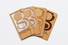 Laser-cut Business Cards made of Bamboo Wood - Design Milk