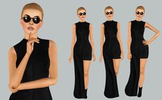 BEYONCE -  Jean Paul Gaultier Asymmetrical Cotton & Silk Dress  Y/Adult Female|Custom Thumbnails|Click here to look real  • DOWNLOAD •
