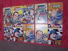 Vortex Comic Book Legends Of Nascar Racing Lot Of 10 Books 1991 & 1992