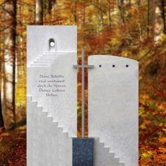Grabstein Urnengrab mehrteilig Treppe & Kreuz - Quirin