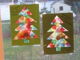 """Tree """"stained glass"""" craft...just need contact paper and tissue"""