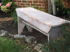 How to make your own farmhouse bench. Free plans included.