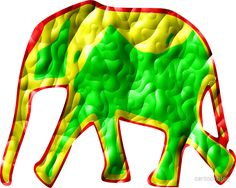 Little african elephant