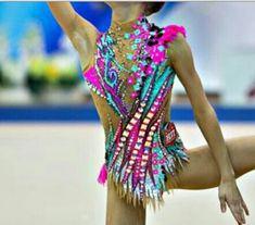 RG leotard close-up (photo by Olga Kochegarova) Rhythmic Gymnastics Training, Gymnastics Poses, Sport Gymnastics, Artistic Gymnastics, Rhythmic Gymnastics Leotards, Custom Leotards, Push Up Swimsuit, Figure Skating Dresses, Belly Dance Costumes