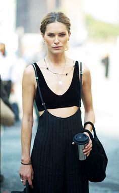 150+Gorgeous+Fashion+Images+to+Pin+Right+Now+via+@WhoWhatWear [Erin Wasson. Fashion. Street style. Accessories. Layered necklaces].