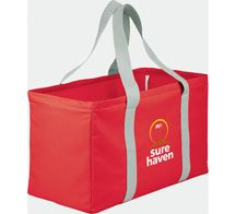 [2301-18] Chevron Oversized Carry-All Tote - Leed's Promotional Products