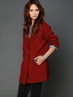 Vince Hooded Open Front Sweater Jacket wool alpaca long cardigan