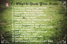 15 Ways to Green Your Home!