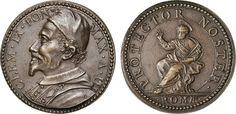 "NumisBids: Numismatica Varesi s.a.s. Auction 65, Lot 878 : CLEMENTE IX (1667-1669) Med. A. III ""San Pietro protettore della..."