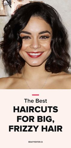 Ask A Hairstylist The Best Haircuts For Big Frizzy Hair For The - big curly hairstyles curly hairstyles everyday Frizzy Short Hair, Frizzy Hair Tips, Haircuts For Frizzy Hair, Messy Curly Hair, Hair Frizz, Curly Hair Cuts, Cool Haircuts, Curly Hair Styles, Curly Girl