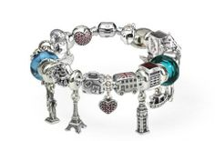 My Pandora European Travel/Paris Vow Renewal Bracelet-  this one is on a bangle